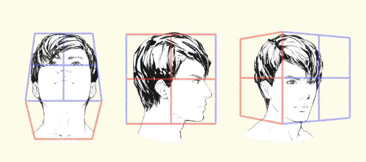 立方体の中に顔を描こう